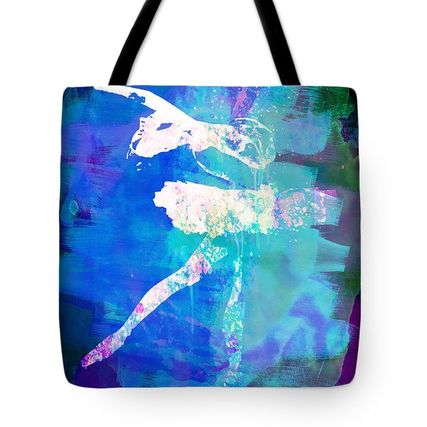 White Ballerina Watercolor Tote Bag