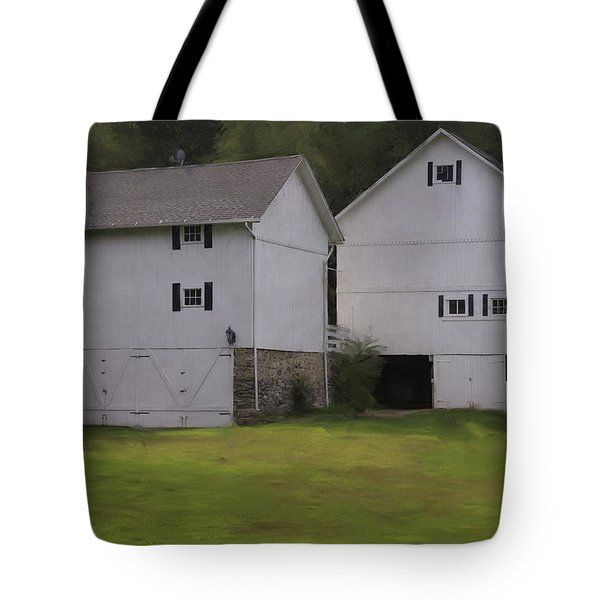 White Barns Tote Bag