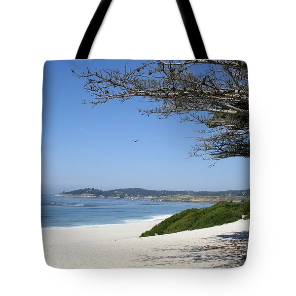 White Beach At Carmel Tote Bag by Christiane Schulze Art And Photography