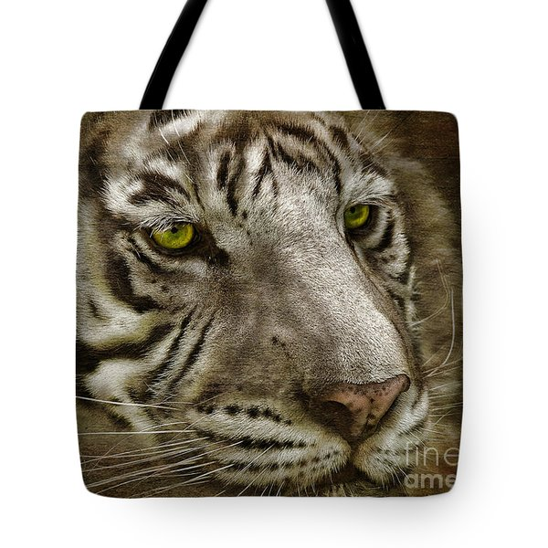 White Bengal Tote Bag by Lois Bryan