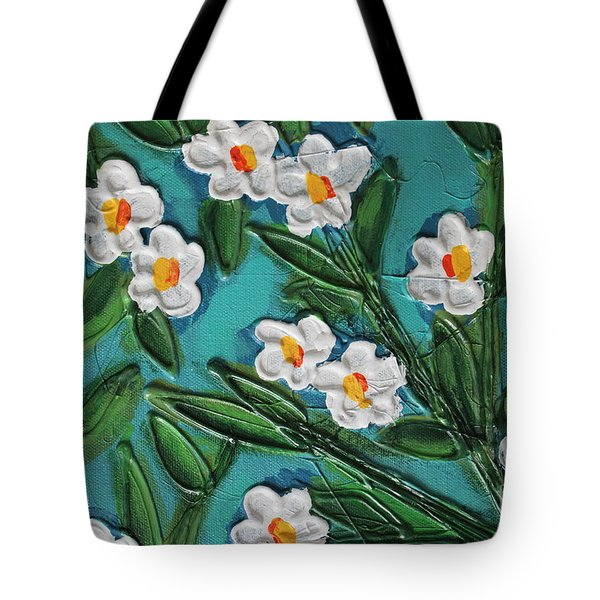 White Blooms 2 Tote Bag by Cynthia Snyder