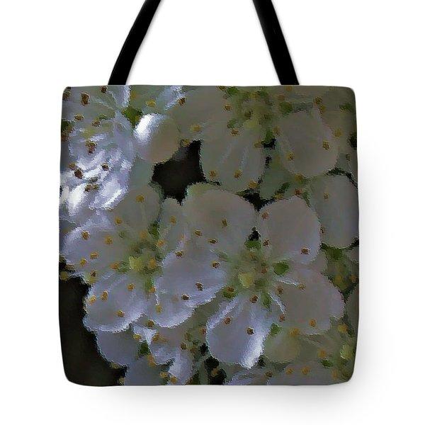 White Blooms Tote Bag