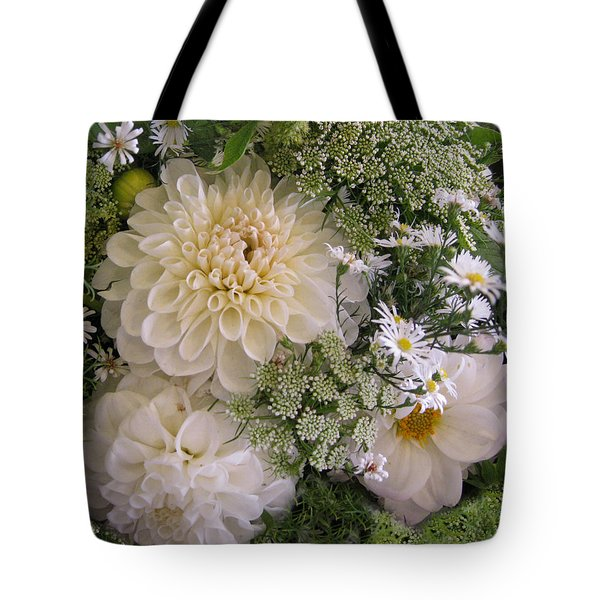 Tote Bag featuring the photograph White Bouquet by Geraldine Alexander