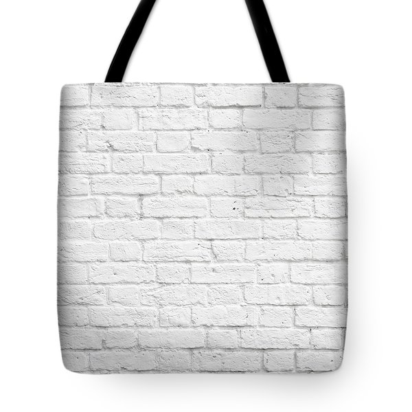 White Brick Wall Tote Bag