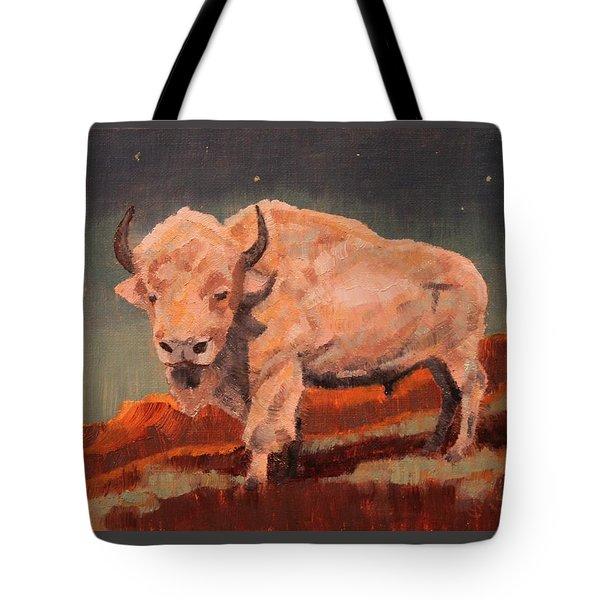 White Buffalo Nocturne Tote Bag