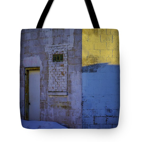 White Building Tote Bag by Raymond Kunst