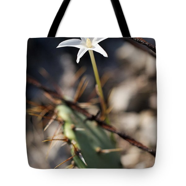 Tote Bag featuring the photograph White Cactus Flower by Erika Weber