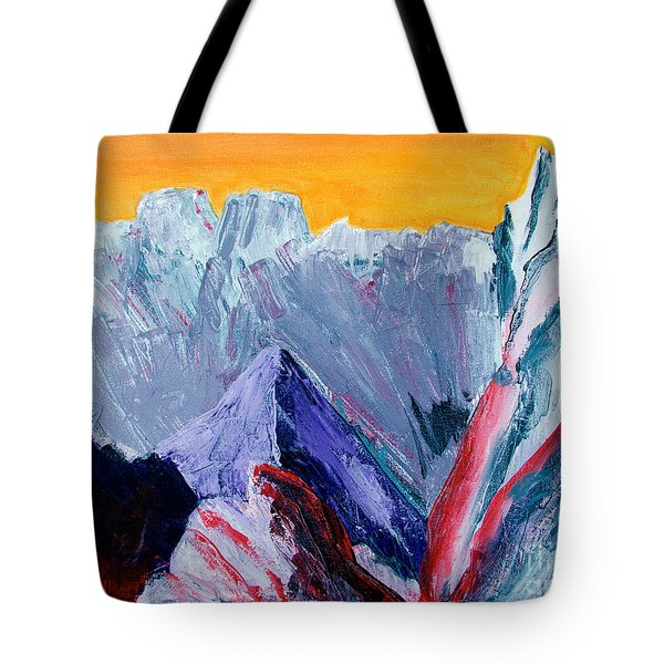 White Canyon Tote Bag