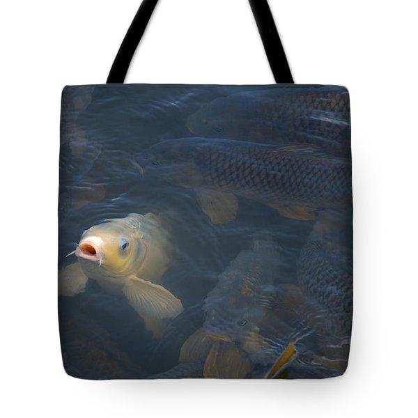 White Carp In The Lake Tote Bag