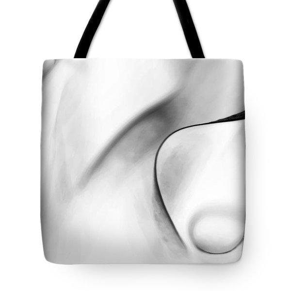 White Charcoal Tote Bag by Theresa Tahara