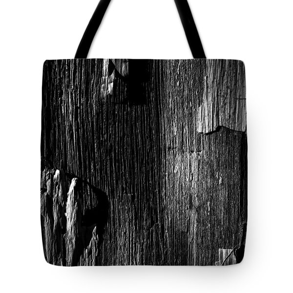 White Chip Paint On The Old Red Barn Tote Bag by Bob Orsillo
