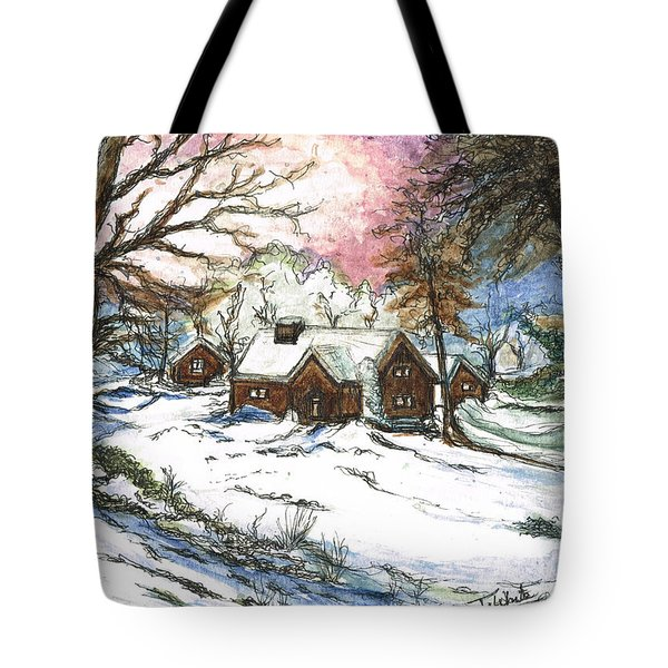 White Christmas Tote Bag