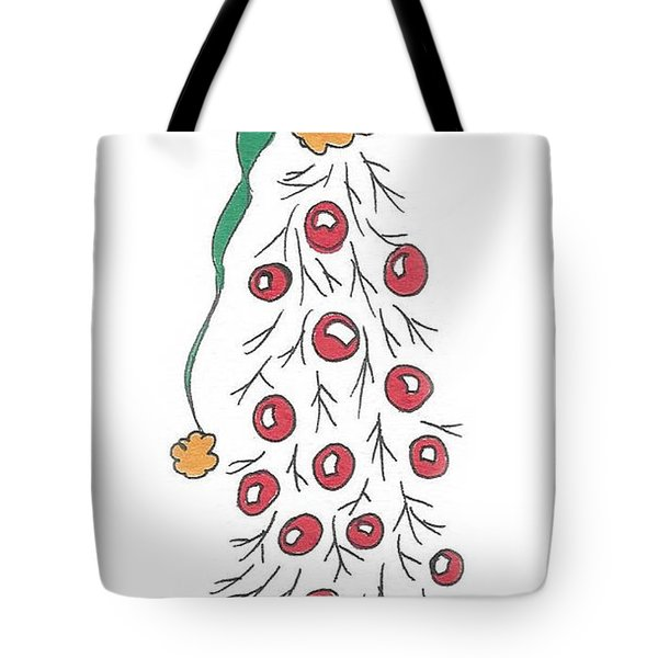 White Christmas Tree 2 Tote Bag