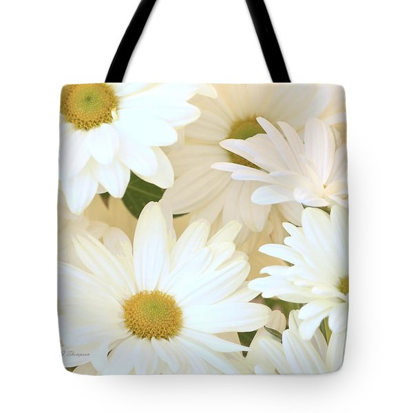 Tote Bag featuring the photograph White Chrysanthemums by Richard J Thompson