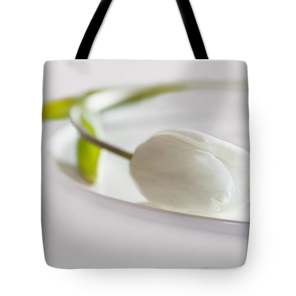 White Tote Bag by Claudia Moeckel