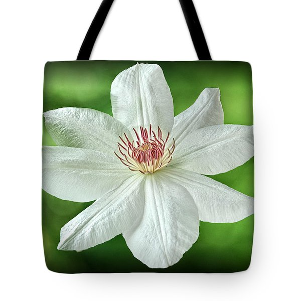 White Clematis Tote Bag