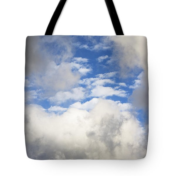 Tote Bag featuring the photograph White Clouds And Blue Sky by Charmian Vistaunet
