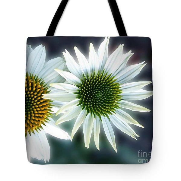 White Conehead Daisy Tote Bag