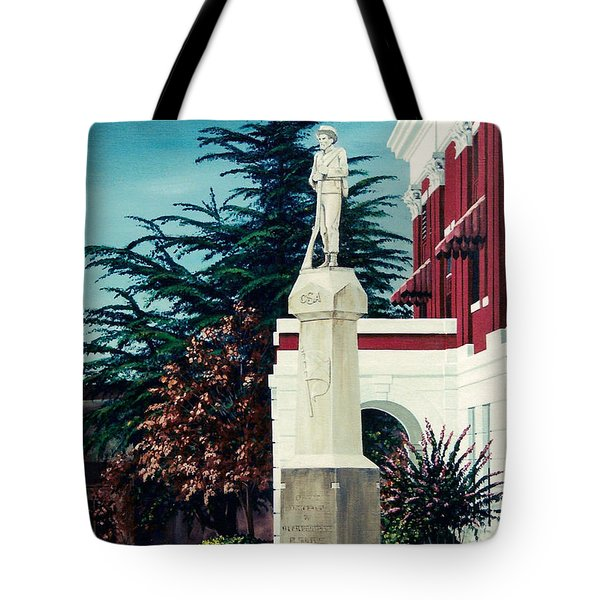 White County Courthouse - Civil War Memorial Tote Bag