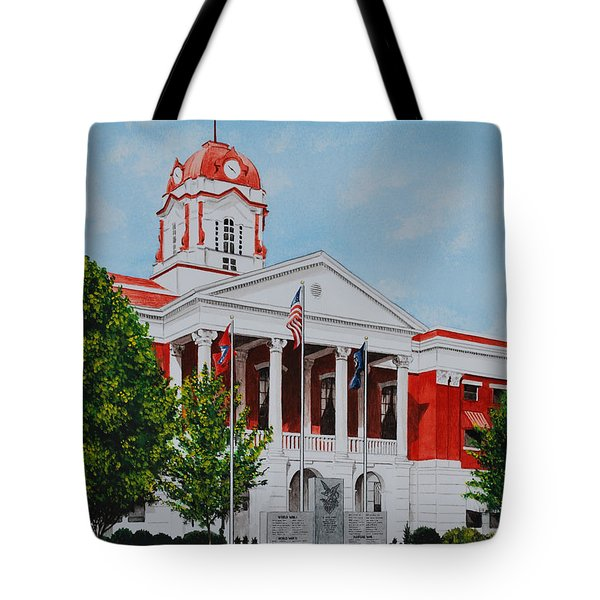 White County Courthouse - Veteran's Memorial Tote Bag