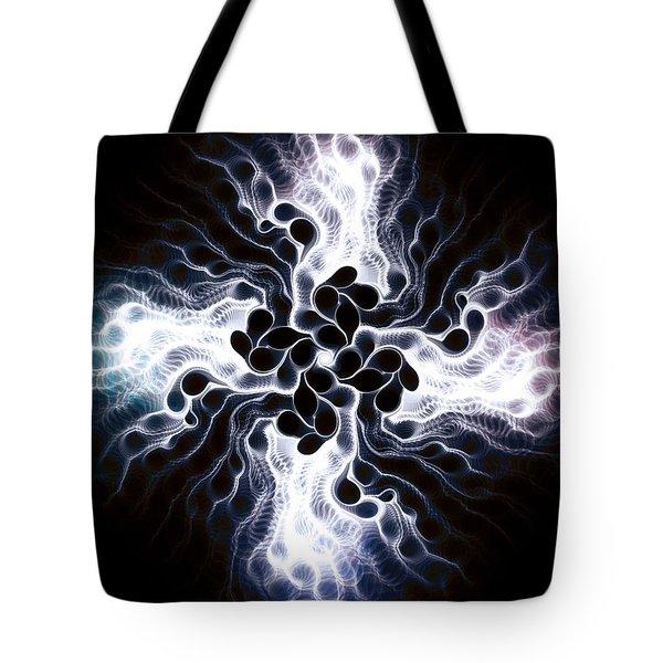 White Cross Tote Bag by Anastasiya Malakhova