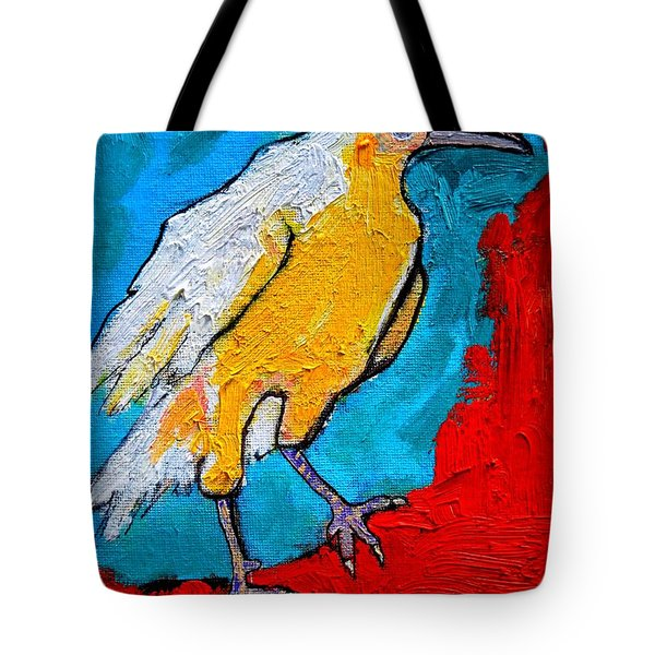 White Crow Tote Bag by Ana Maria Edulescu