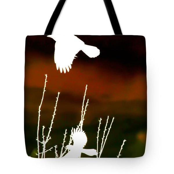 White Crow And The Bluejay Tote Bag