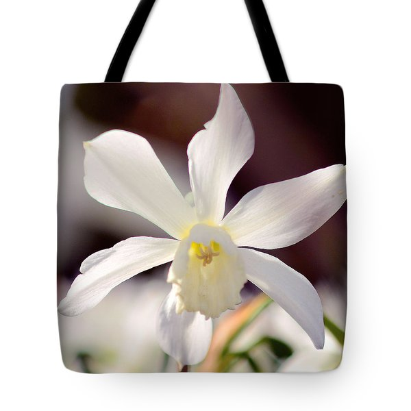 White Daffodil Tote Bag by Tommytechno Sweden