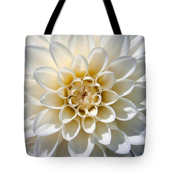 White Dahlia Tote Bag by Carsten Reisinger