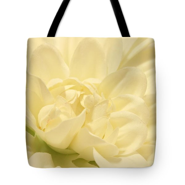White Dahlia Dreams Tote Bag