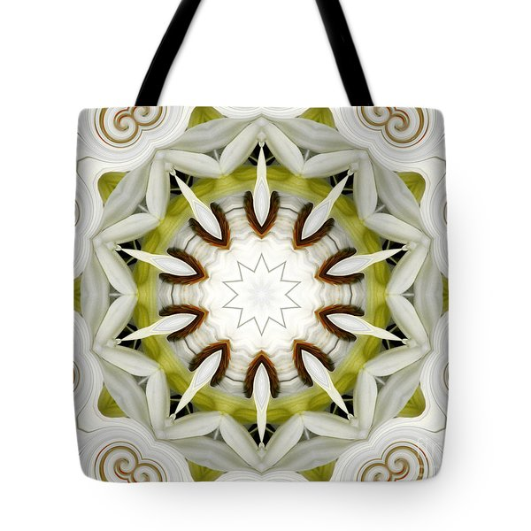 Tote Bag featuring the photograph White Daisies Kaleidoscope by Rose Santuci-Sofranko