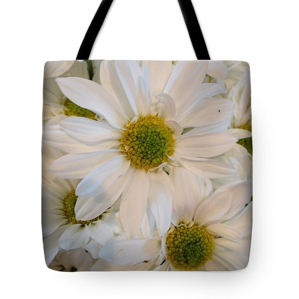 White Daisies Tote Bag