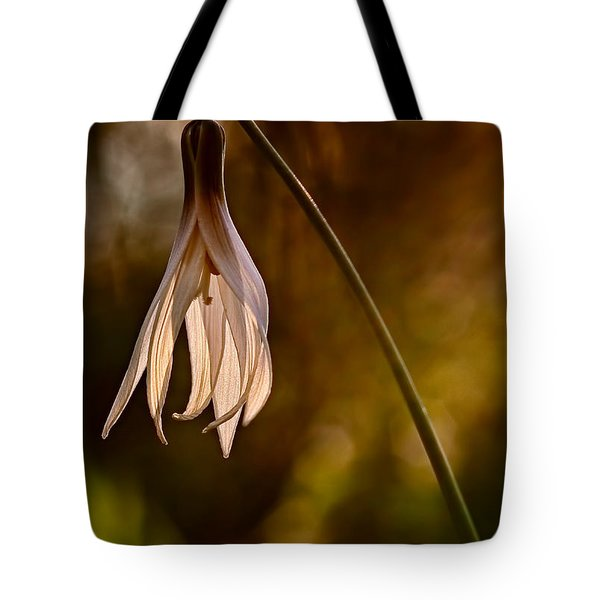 White Dogtooth Violet Tote Bag