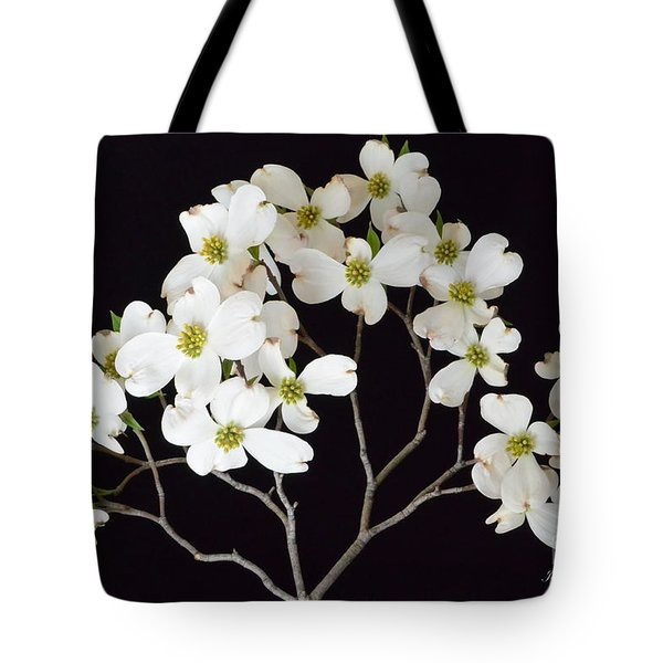 Tote Bag featuring the photograph White Dogwood Branch by Jeannie Rhode