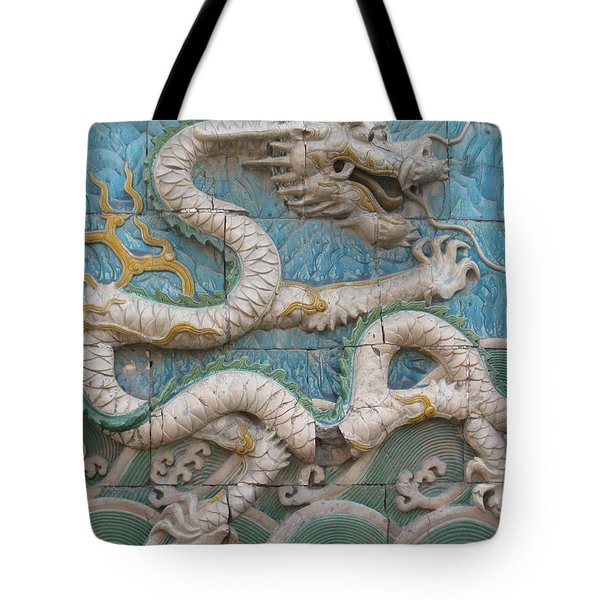 Tote Bag featuring the photograph White Dragon by Alfred Ng