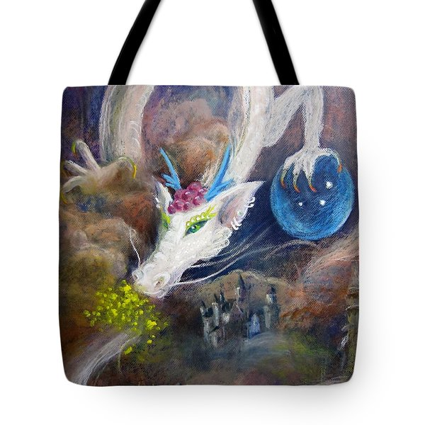 White Dragon Tote Bag