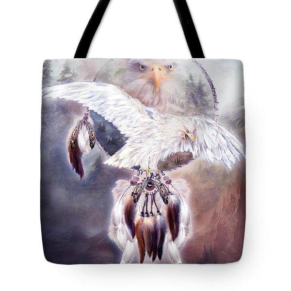 White Eagle Dreams 2 Tote Bag by Carol Cavalaris