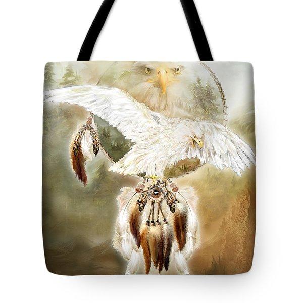 White Eagle Dreams Tote Bag by Carol Cavalaris