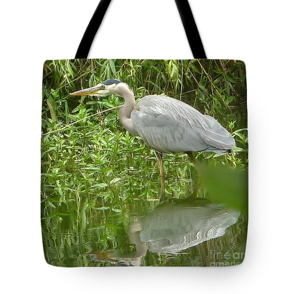 Tote Bag featuring the photograph White Egret Double  by Susan Garren