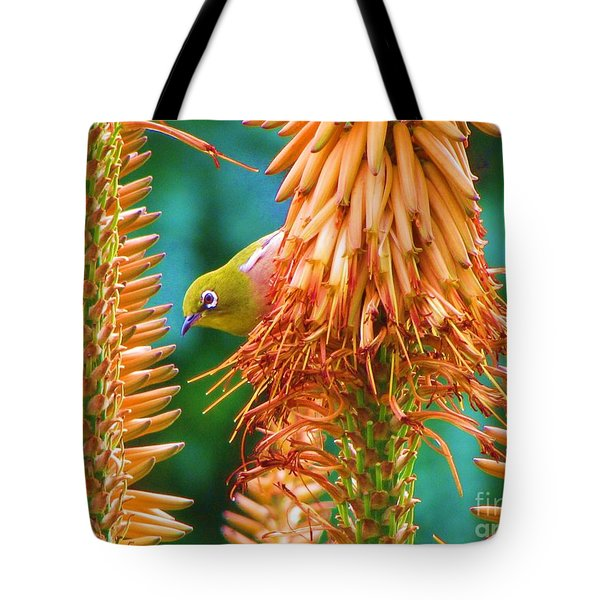 White-eye On Deer-horn Tote Bag by Michele Penner