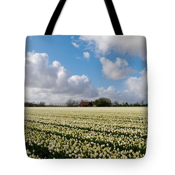 White Field Tote Bag
