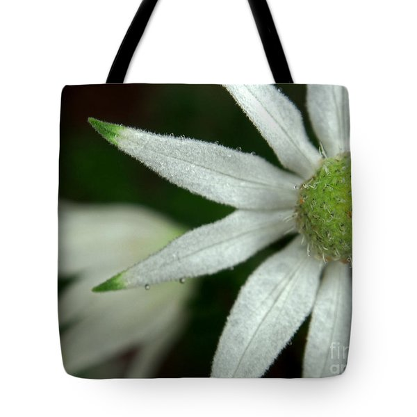 White Flannel Flowers Tote Bag by Kaleidoscopik Photography
