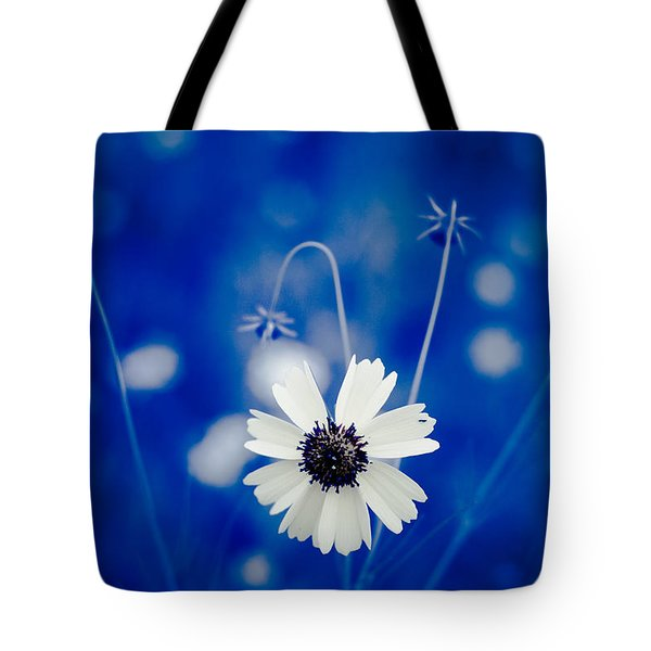 White Flower Tote Bag by Darryl Dalton