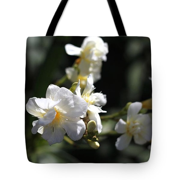 White Flower - Early Spring Time Tote Bag by Ramabhadran Thirupattur