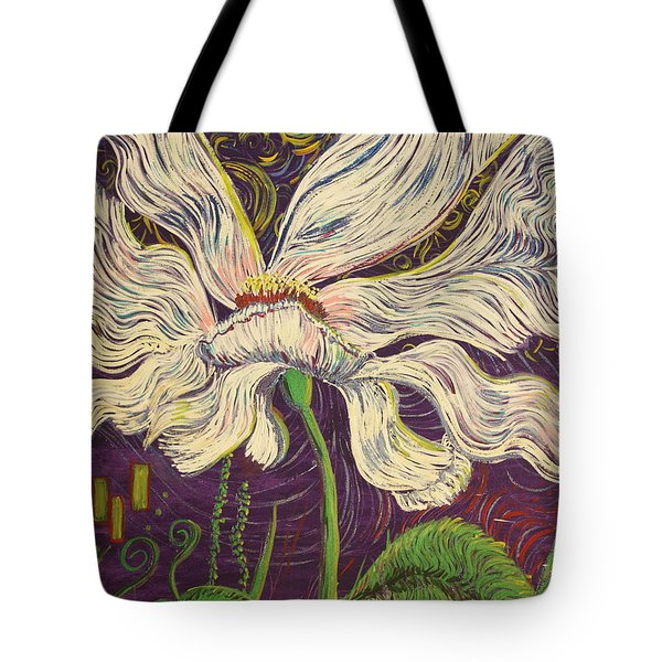 White Flower Series 6 Tote Bag