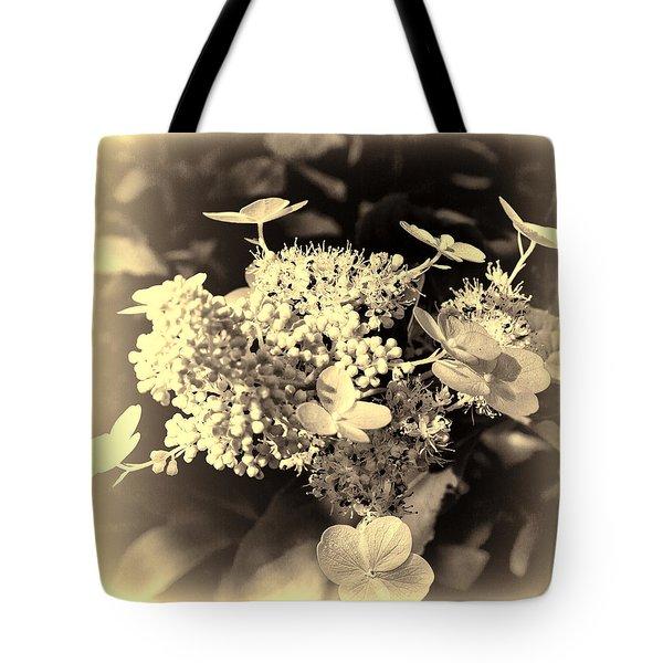 white flower SV Tote Bag