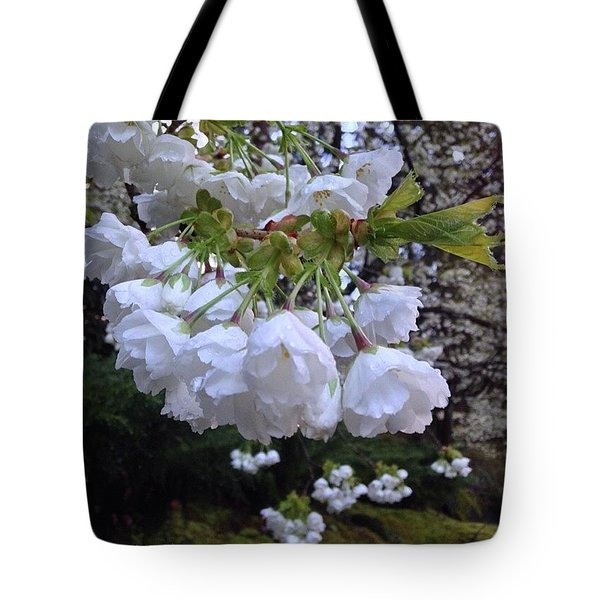 White Flowering Dogwood And Spring Greens Tote Bag