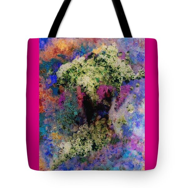 White Flowers In A Vase Tote Bag by Lee Green