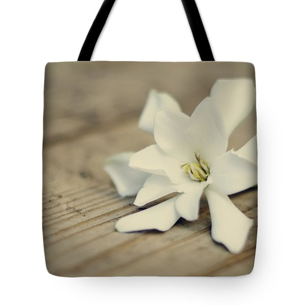 White Gardenia Tote Bag