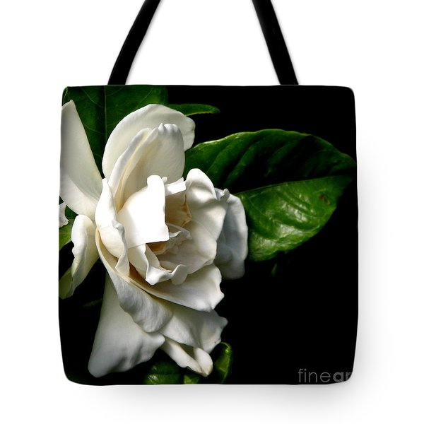 Tote Bag featuring the photograph White Gardenia by Rose Santuci-Sofranko